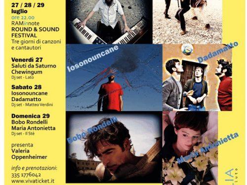ROUND & SOUND Festival  Tre giorni di canzoni e cantautori