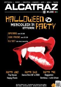 ALCATRAZ HALLOWEEN PARTY – Mercoledì 31 ottobre a Milano