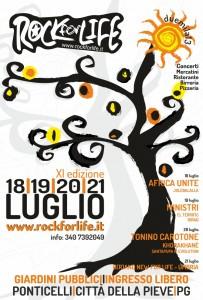 """""""Rock For Life"""" – Dal 18 al 21 luglio a Ponti celli di Città della Pieve"""