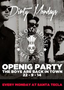 Dirty Mondays, l'idea di fare un party nei lunedì sera, riprende dal 22 settembre al Santa Tecla di Milano