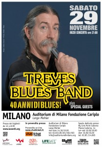 Sabato 29 novembre Treves Blues Band in concerto per festeggiare i 40 anni di Blues
