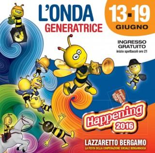 da lunedì 13 giugno a domenica 19 giugno  HAPPENING DELLE COOPERATIVE  @ LAZZARETTO  Bergamo _ Piazza Goisis  inizio spettacoli: ore 21.30