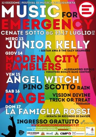 MUSIC FOR EMERGENCY  da mercoledì 13 luglio a domenica 17 luglio  a Cenate Sotto (BG)