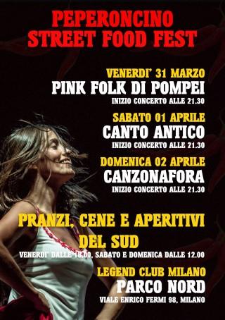Torna, dopo il successo dello scorso anno, con la seconda edizione…. Peperoncino Street Food Fest… DAL 31 MARZO AL 2 APRILE @ PARCO NORD MILANO… MUSICA, STREET FOOD CON SPECIALITA' DEL SUD