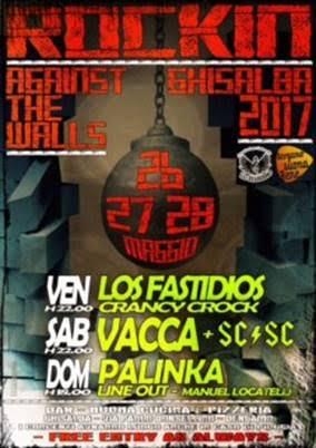 DA VENERDÌ 26 A DOMENICA 28 TRE GIORNI DI ROCK, PUNK, METAL E SKA – ROCK IN GHISALBA 2017