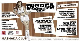 DAL 5 AL 10 LUGLIO, AL PARCO INCREA DI BRUGHERIO… INCREA SUMMER FEST 2018 – 10° edizione… 4 giorni di live music, dj set, vintage shop & fiera del disco